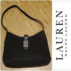 Lauren Ralph Lauren nylon shoulder hobo bag purse